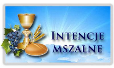 Intencje mszalne 17.10. - 24.10.2021r.