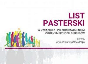 List pasterski w związku z  XVI Zgromadzeniem Ogólnym Synodu Biskupów